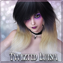 Twizted Luisa Hair 3D Figure Essentials TwiztedMetal