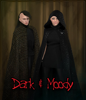 Dark & Moody for Dynamic Cloak 3D Figure Assets Frequency