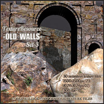 TextureResource_OLD WALLS Set-3 2D And/Or Merchant Resources Themed RajRaja