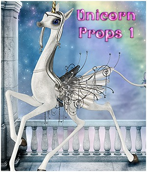 SVProps Unicorn Props Vol: 1 Themed Stand Alone Figures Propschick