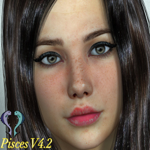 Pisces Character Pack For V4.2 3D Figure Essentials 3-DALI
