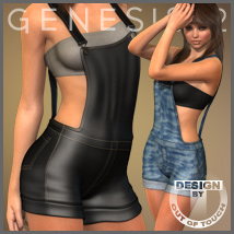Sexy Overalls for Genesis 2 Female(s) Clothing Themed outoftouch