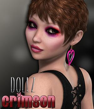 Dollz Crimson Themed Characters 3DSublimeProductions