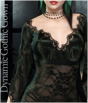 Dynamic Gothic Gown V4 Clothing Themed lilflame
