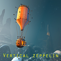 Vertical zeppelin 3D Models 1971s