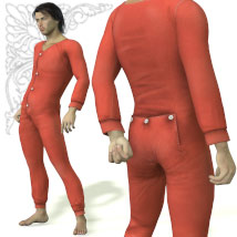 Long Johns Underwear 3D Figure Assets coflek-gnorg
