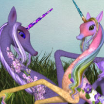 DA-SpringTime for The Unicorn Animals Themed Software Stand Alone Figures DarkAngelGrafics