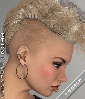 PHCNatural : SAV Alpha Moikanaki Hair Themed P3D-Art