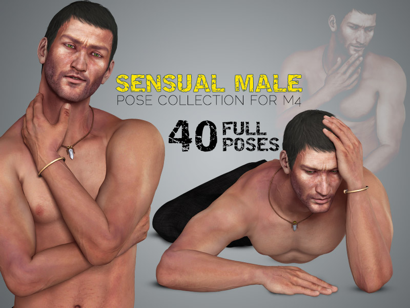 i13 Sensual Male Pose Collection for M4 by ironman13