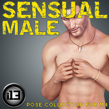 i13 Sensual Male Pose Collection for M4 3D Figure Assets 3D Models ironman13