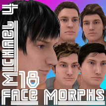 Farconville's Face Morphs 18 for Michael 4 3D Figure Essentials farconville