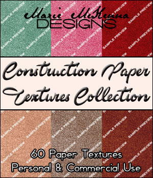 Construction Paper Textures Collection 2D Graphics MarieMcKennaDesigns