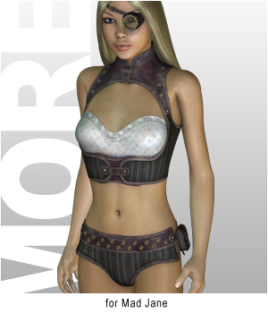 MORE Textures & Styles for Mad Jane 3D Figure Essentials 3D Models motif