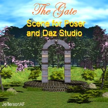 The Gate 3D Models JeffersonAF