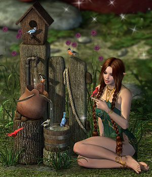 DM's Enchanted Accents - Birdhouse by marforno