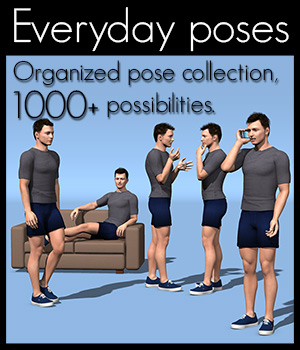 Everyday poses collection M4 by 2nd_World