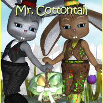 Mr  Cottontail 3D Figure Essentials 3D Models JudibugDesigns