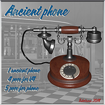Ancient phone 3D Models tuketama
