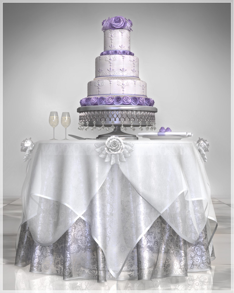 GCD Wedding Cake and Table Set