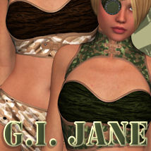 G.I. JANE for Mad Jane Clothing ANG3L_R3D