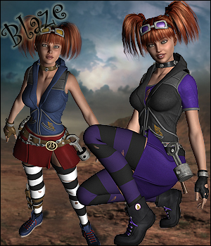 Blaze for Genesis 2 Female 3D Figure Assets RPublishing