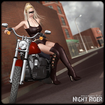 Night Rider 3D Figure Assets 3D Models mytilus