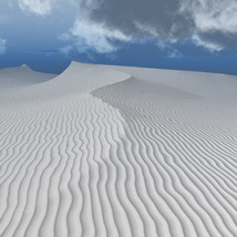 White and Gold Sand Desert Software 3D Models Bijan_Studio