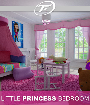 Little Princess Bedroom 3D Models TruForm