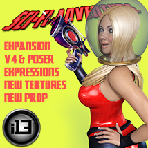i13 SciFi ADVENTURE Expansion V4/Poser Themed Poses/Expressions Software ironman13