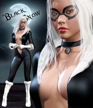 Black Snow 3D Figure Assets Pretty3D