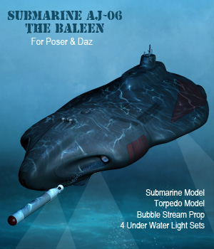 Submarine The Baleen AJ06 3D Models Simon-3D