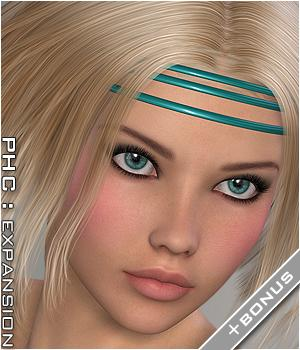 PHCNatural : LittleStar Themed Hair P3D-Art