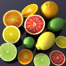 Juicy citrus fruit pack 3D Models Bijan_Studio