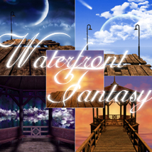 Waterfront Fantasy Themed 2D And/Or Merchant Resources melc