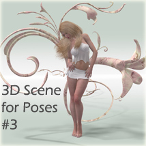 3D Scene for Poses #3 3D Models 3D Figure Essentials Software Arrin