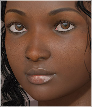 A3D Kewe Black Beauty for V4 3D Figure Assets alizea