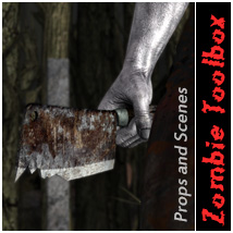 Zombie Toolbox Props/Scenes/Architecture Themed Software halcyone