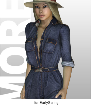 MORE Textures & Styles for EarlySpring 3D Figure Essentials 3D Models motif