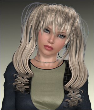 Anime Ponytail Hair V4,Dawn,M4 and Gen2 3D Figure Essentials RPublishing