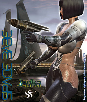 Space Babe - Jerika 3D Figure Essentials Darkworld
