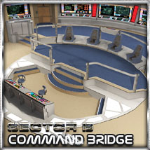 Ship Elements B5: Command Bridge by 3-d-c