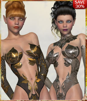 B#1 1 Click Gilded Super Skinz Bodyglove 3D Figure Essentials 3D Models lululee