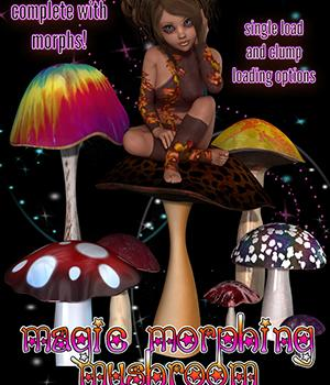Magic! Morphing Mushroom 3D Models 3DSublimeProductions