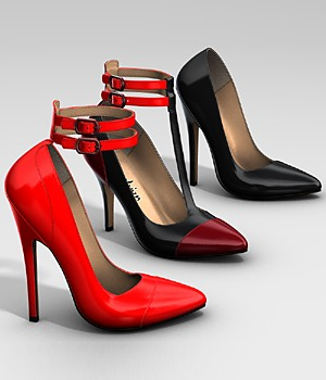 Ankle Strap Pumps 3D Figure Essentials idler168