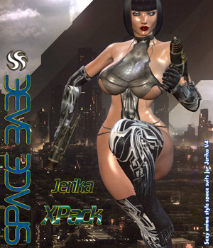 Space Babe XPack 3D Figure Assets Darkworld