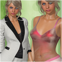 Pastels for Spring Suit 3D Figure Essentials Atenais