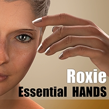 Essential HANDS - Roxie 3D Figure Assets 3Dream