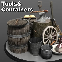 Tools&Containers 3D Models dexsoft-games