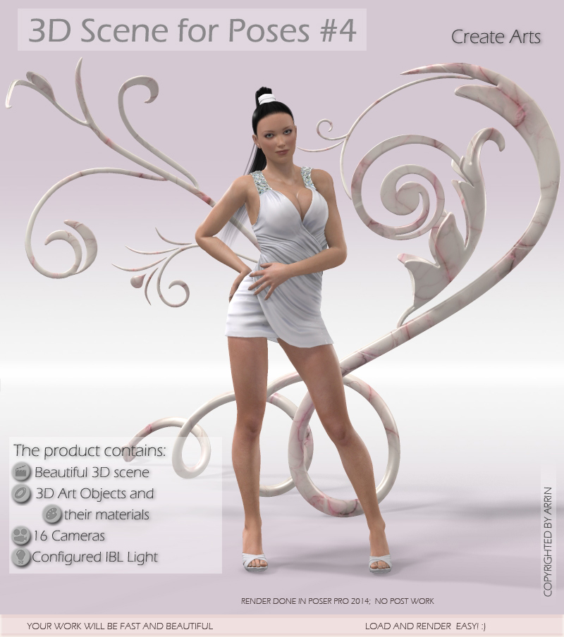 3D Scene for Poses #4 by Arryn