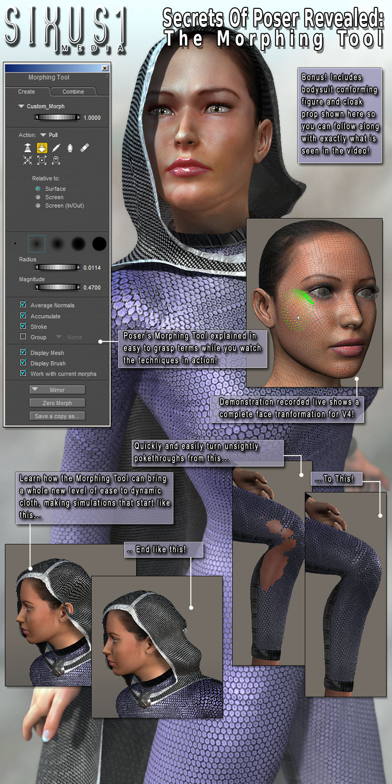 Secrets Of Poser Revealed: The Morphing Tool